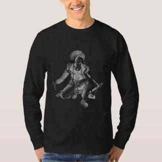 Silver Samurai Ready For Battle T-Shirt