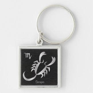 Silver Scorpio Zodiac Sign Key Ring