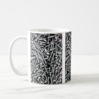 Silver Screws - Tool Print Basic White Mug