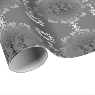 Silver Scroll Tyvek Wrapping Paper