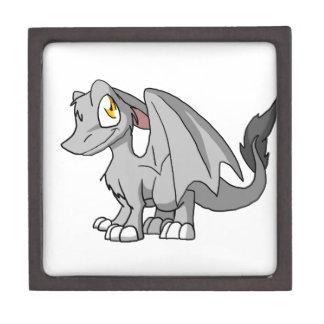 Silver SD Furry Dragon Premium Trinket Box