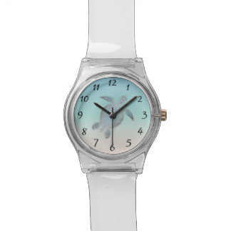 Silver Sea Turtle Numbers Wristwatches