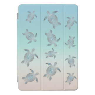 Silver Sea Turtles Beach Style iPad Pro Cover