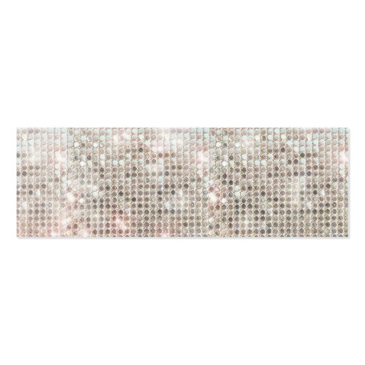 Silver Sequins Mini Profile Card Business Cards
