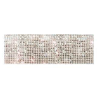 Silver Sequins Mini Profile Card Pack Of Skinny Business Cards