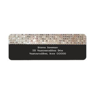 Silver Sequins Return Address Labels