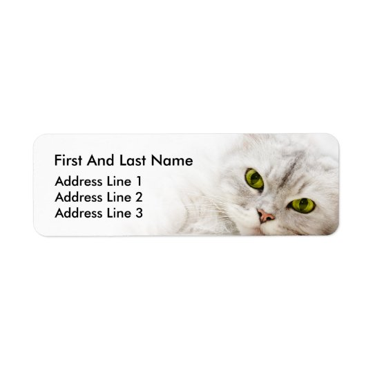 Silver shaded Persian Return Address Label