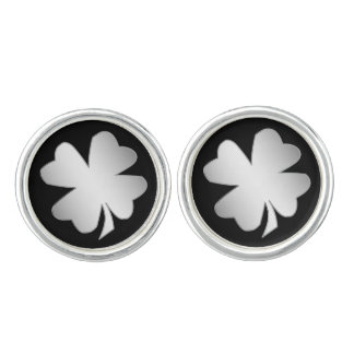 Silver Shamrock Cuff Links
