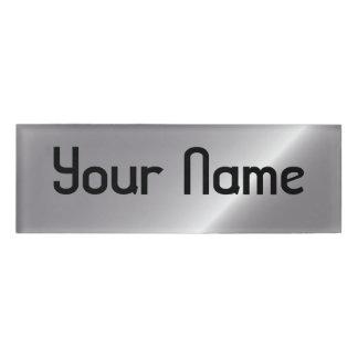 silver sheen name tag
