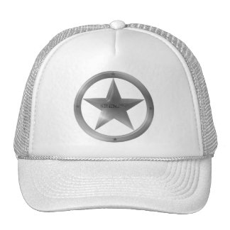 Silver Sheriff Badge Hat