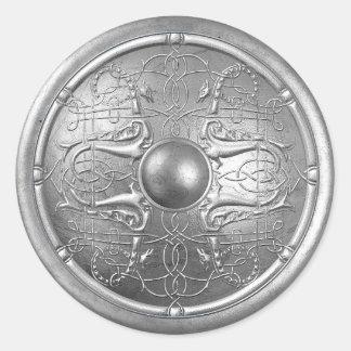 Silver Shield 16 Classic Round Sticker