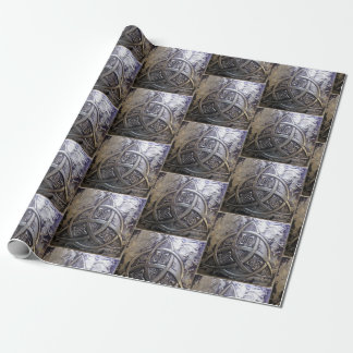 Silver Shield Triquetra Medieval Wrapping Paper