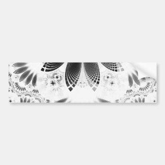 Silver Shikoba, Beautiful BnW Fractal Feathers Bumper Sticker