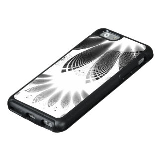 Silver Shikoba, Beautiful BnW Fractal Feathers OtterBox iPhone 6/6s Case