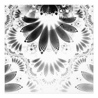 Silver Shikoba, Beautiful BnW Fractal Feathers Photo Art