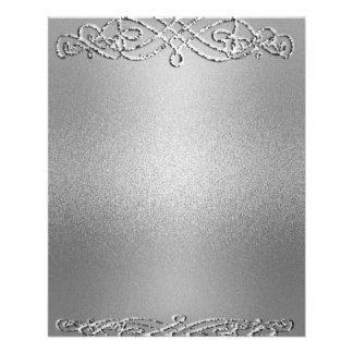 Silver Shimmer Glitter Template Background Flyer