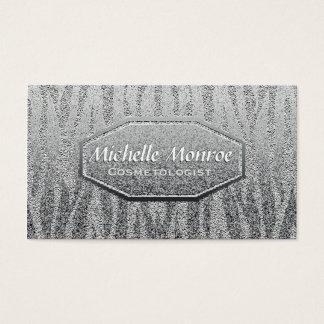 Silver Shine Metallic Business Card