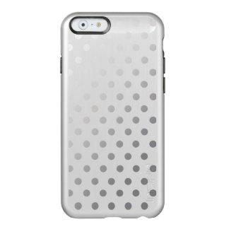 Silver Shiny Polka Dots Pattern Incipio Feather® Shine iPhone 6 Case