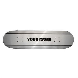 Silver Shiny Stainless Steel Metal Custom Skateboard