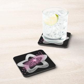 silver shiny star drink coasters