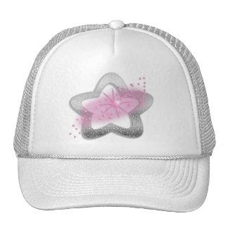 silver shiny star mesh hat