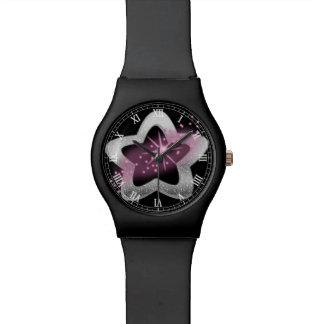 silver shiny star wrist watches