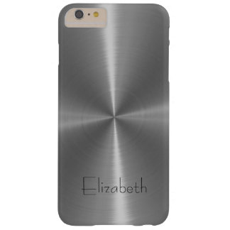 Silver Shiny Steel Metal Barely There iPhone 6 Plus Case