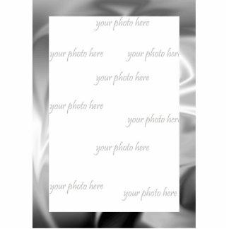 Silver Silk Goth Photo Frame Sculpture Photo Cutouts