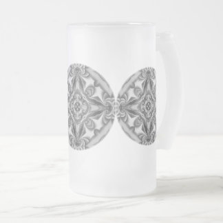 Silver Silk Mandala Frosted Glass Frosted Glass Beer Mug