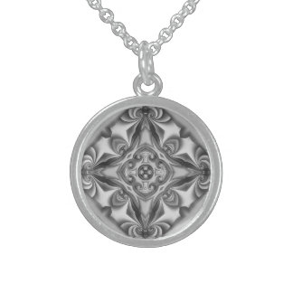 Silver Silk Mandala Necklace