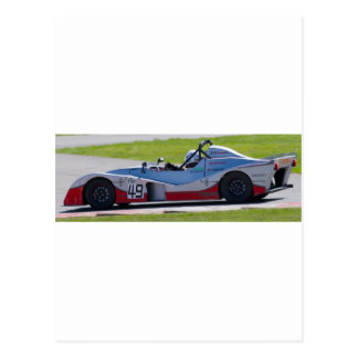 Silver single seater race car post cards
