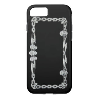 SILVER SKULLS and CHAINS (Print) Phone Cover