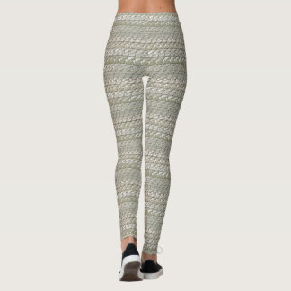 Silver Snake Chain Leggings