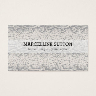 Silver Snake Skin Business Card