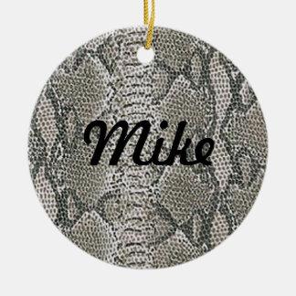Silver Snake Skin Name Ornament