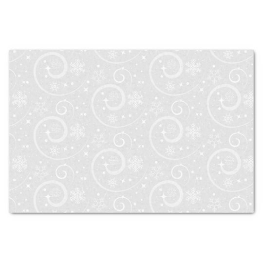 Silver snowflake background tissue paper