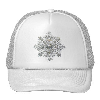 Silver Snowflake Hats