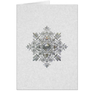Silver Snowflake Holiday Card