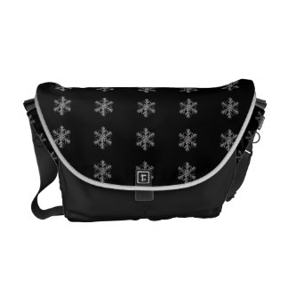 Silver Snowflake Courier Bags