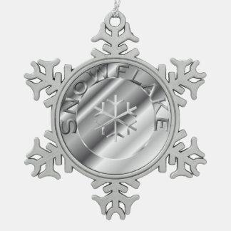 Silver Snowflake Pewter Snowflake Decoration
