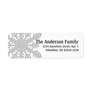 Silver Snowflake :: Return Address Labels