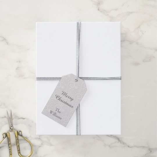 Silver Snowflakes Gift Tags