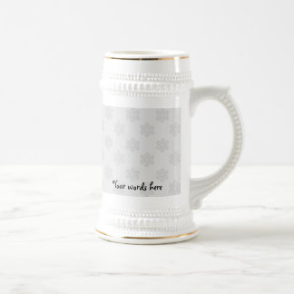 Silver snowflakes on silver background mugs
