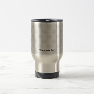 Silver snowflakes on silver background coffee mugs