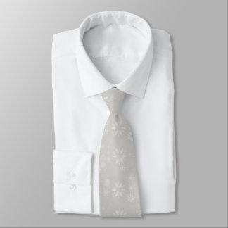 Silver Snowflakes Tie