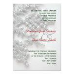 Silver Snowflakes Wedding Invitation