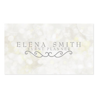 Silver Sparkle Bokeh Pack Of Standard Business Cards