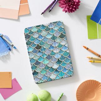 Silver Sparkle Glitter Mermaid Scales iPad Pro Cover