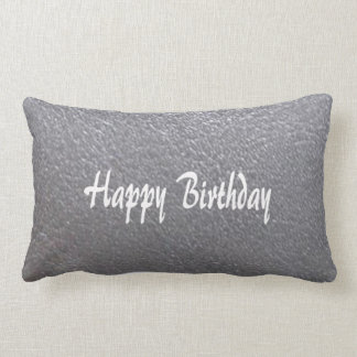Silver Sparkle Leather Look  DIY add TEXT IMAGE Lumbar Cushion