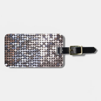Silver Sparkling Sequin Look Luggage Tag